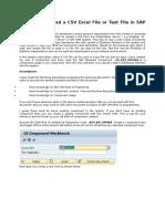 Upload a CSV Excel File or Text File in SAP CRM WebUI