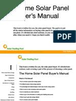 Solar Electric Panel Manual