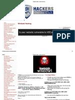 Windows Hacking - HackersOnlineClub