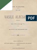 Auguste Clavel - Vasile Alecsandri