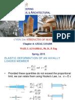 CVEN214- Lecture 4 Axial Loads -Dr. Wael Alnahhal