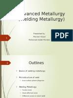Advanced Metaullrgy Finalwelding