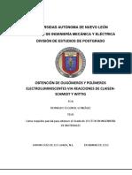 UNI VERSIDAD AUTÓNOMA DE NUEVO LEÓN  FACULTAD DE INGENIERÍA MECÁNICA Y ELÉCTRICA  DIVISIÓN DE ESTUDIOS DE POSTGRADO  OBTENCIÓN DE OLIGÓMEROS Y POLÍMEROS  ELECTROLUMINISCENTES VIA REACCIONES DE CLAISEN- SCHMIDT Y WITTIG