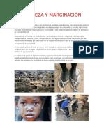 Pobreza y Marginación