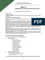 Anexo G Esquema Del Informe Mensual Del Supervisor de Proyecto