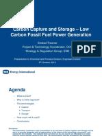 Carbon Capture and Storage Presentation 9-10-2012