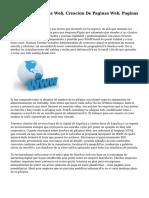 Diseño De Paginas Web, Creacion De Paginas Web, Paginas Web Lima