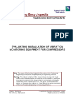 Evaluating Installation of Vibration Monitoring Equipment for Compressors