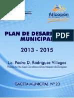 Art15 Fracc II PDM 2013-2015 Atizapan de Zaragoza