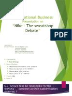 Presentation on NIke Sweatshop slide