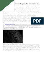 Cómo Citar Y Referenciar Páginas Web Con Normas APA