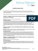 Proper Handling of Unused RF Connector Ports TP-104415