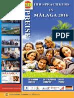 Preise Spanischkurse in Spanien Alhambra 2016 Preisliste