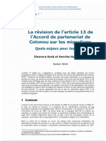 Article 13 de l'Accord de Cotonou_Final Version