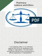 Pharmacy Jurisprudence and Ethics
