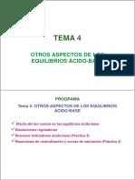 TEMA 4. Otros Aspectos de Los Equilibrios Ácido-base (2)