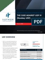 UDF Overview Presentation 1-28-16