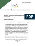 University of Pennsylvania 105 Curriculum Templates