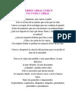 Facundo Cabral Ferrocabral Lyrics