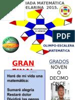 Final Olimpiadas Matematicas 10-11 Año 2015