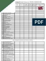 Induction Training Checklist