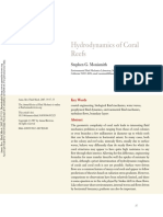 Hydrodynamic of reefs