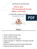 SPSS Tables to APA Style