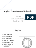 Angles, Directions and Azimuths