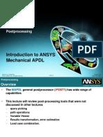 MAPDL Intro 13.0 L11 Postprocessing