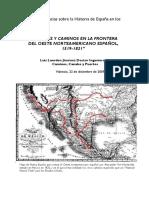 Caminantes y Caminos en El Oeste Norteamericano Español (1519-1821) - Luis Laorden