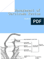 Management of Carcinoma Rectum