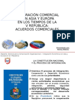 Acuerdos Comerciales de Venezuela con Asia y Europa en los Tiempos de la V República