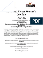 Vet Job Fair Flyer 2010