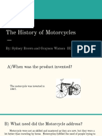 the history of motorcycles