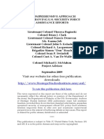 """SSI Pub 942 """"A Comprehensive Approach to Improving U.S. Security Force Assistance Efforts"""""""