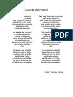 parttituras Saliendo Del Pretorio - Maricela Garza