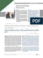 Reforma electoral en el Perú. Entre el discurso y los hechos