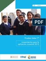Guia Pruebas Saber 7 Lineamientos Para La Aplicacion Muestral 2015