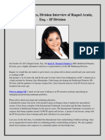 Mossack Fonseca, Division Interview of Raquel Araúz, Esq. – IP Division