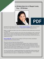 Mossack Fonseca, Division Interview of Raquel Araúz, Esq. – IP Division