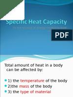 4.2 Specific Heat Capacity