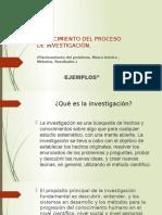 Conocimiento Del Proceso de Investigación