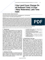 Impact of Land Use Land Cover Change on Stream Flow and Sediment Yield a Case Study of Gilgel Abay Watershed Lake Tana Sub Basin Ethiopia