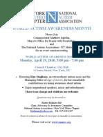 Invite Autism Awareness Event