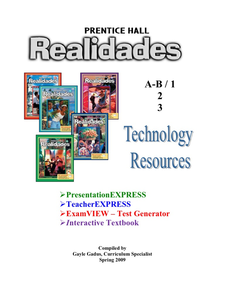 Workbooks practice workbook spanish 2 realidades answers : Realidades Tech Manual 2009 | Computer File | Educational Technology