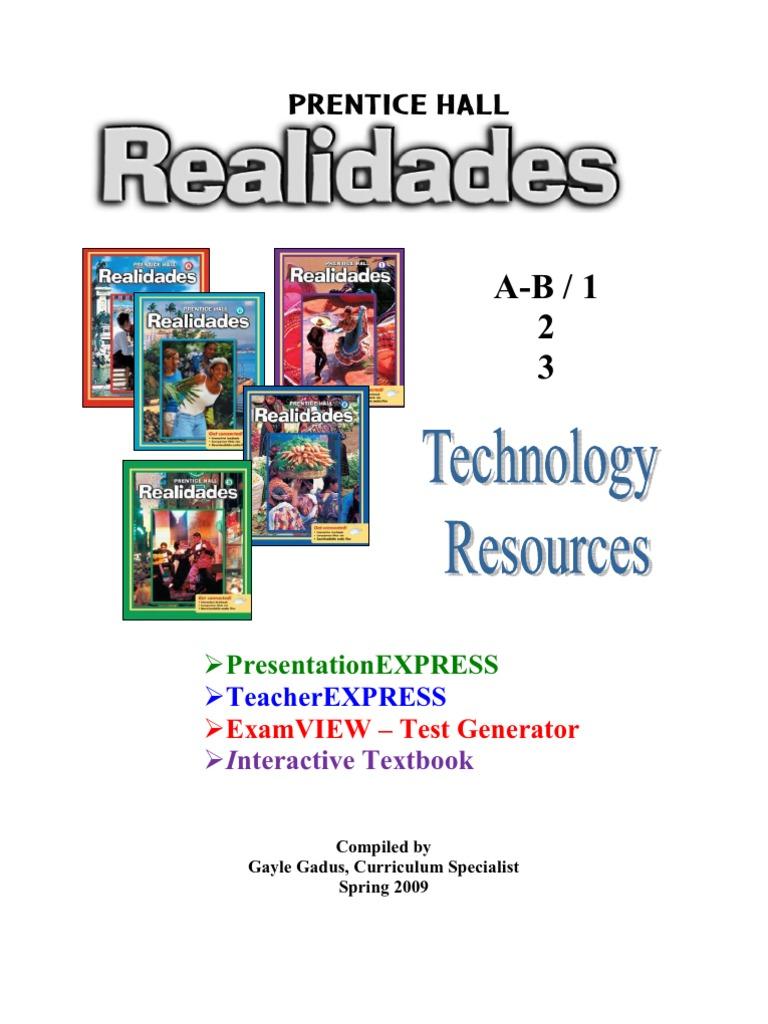 Realidades Tech Manual 2009 | Computer File | Educational Technology