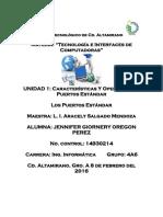 Caracteristicas y Operacion de Puertos estandarer