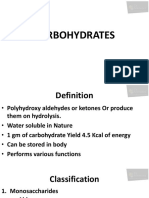 1_Biochem - Carbohydrates & Lipids