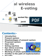 global wireless e_voteing system