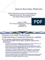 Advanced Pressure Boundary Materials